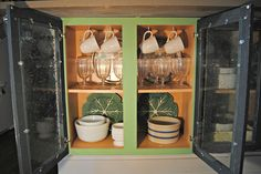 { Adding glass doors to my kitchen cabinets }