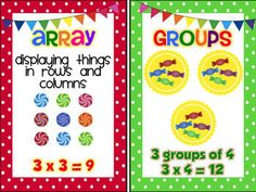 Multiplication Anchor Charts {FREEBIE} I think I could use these in an interactive notebook