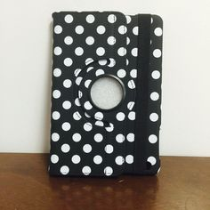 Polka-Dot Rotation Leather Case Ipad Mini 1/2/3