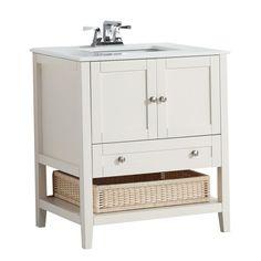 Cape Cod 31 Inch W 1 Drawer 2 Door Freestanding Vanity In White