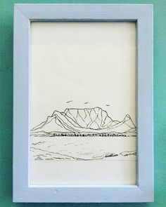 42 Likes, 16 Comments - Cape Town Mountain Sketch, Art Watercolour, Table Mountain, Cape Town, Line Drawing, Easy Drawings, Art Sketches, Line Art, Ink