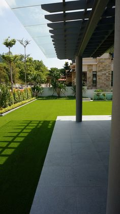 Nice green garden isn't it? #royalgrass #greenlawn #garden #grass #artificialgrass #home
