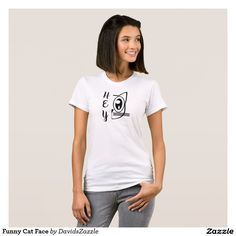 Funny Cat Face Women's Tee Available on many products! Hit the 'available on' tab near the product description to see them all! Thanks for looking!  @zazzle #art #cute #cartoon #funny #cat #cute #pet #friend #family #drawing #digital #black #sweet #nice #friend #women #men #kids #clothes #fashion #style #apparel #tee #tshirt #hoody #sweatshirt #shop #gift #idea #shopping #buy #sale