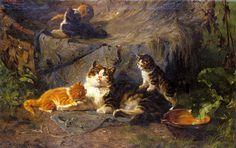 The Proud Mother - Julius Adam snr (1826-1874)