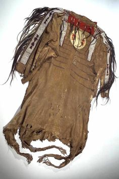 Blackfoot shirt, early 19th century.  AMNH  ac. Date unknown.