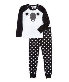 Loving this MJC USA Black Koala 3-D Critter Pajama Set - Juniors on #zulily! #zulilyfinds