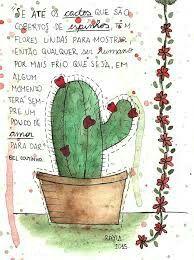 Se ate os cactos que sao cobertos de espinhos tem flores lindas para mostrar; entao qualquer ser humano, por mais frio que seja, em algum momento, tera sempre um pouco de Amor para dar!...