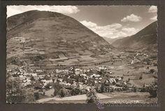 Vall d'Aran (Vielha) - vista general - circulada, 1955