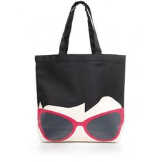 Women's Lulu Guinness Sunglasses Doll Face Lily Tote Bag ($76) found on Polyvore
