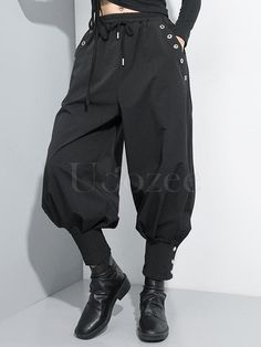 Original White High-low Split-back Blouse – uoozee Looks Style, Looks Cool, My Style, Black Harem Pants, Harem Pants Fashion, White Pants, Cool Outfits, Fashion Outfits, Queer Fashion