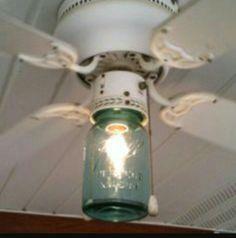 Mason Jar Ceiling Fan Light Cover, I Love It!