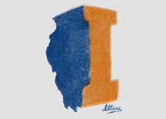 University of Illinois: State of I by Glen Cochon - $24