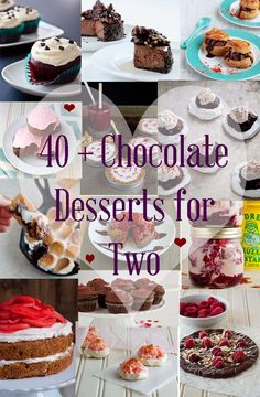 Valentine's Day desserts for two.