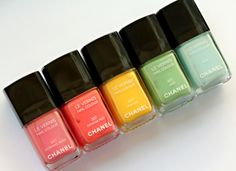 Always have my toenails painted. Spring colors according to Chanel.