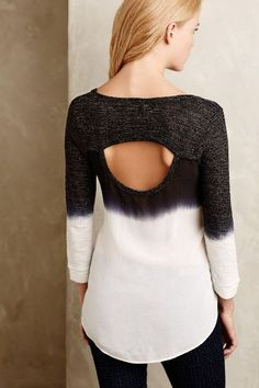 Dip-Dyed Cowl Back Tee - anthropologie.com #anthrofave
