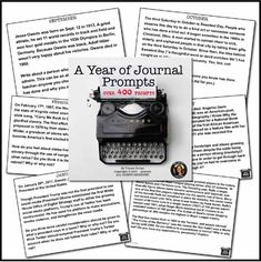 Journal Writing Prompts Bell Ringers for a Full Year Editable by Tracee Orman Teaching Secondary, Teaching Themes, Teaching Writing, Teaching Resources, Journal Writing Prompts, Writing Lessons, Math Lessons, Middle School Reading, Middle School English