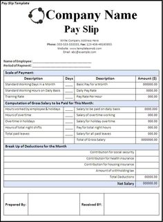 microsoft word payroll template