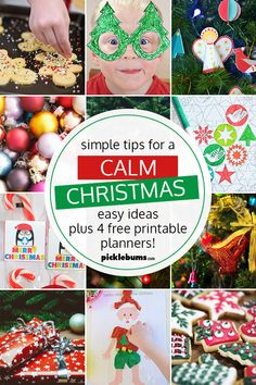 This year I am determined to keep Christmas calm and simple. Here are my best tips for a clam Christmas and four simple free printable Christmas planners. Christmas Is Coming, Holiday Fun, Christmas Holidays, Christmas Bulbs, Christmas Crafts, Christmas Decorations, Free Christmas Printables, Christmas Activities, Free Printables