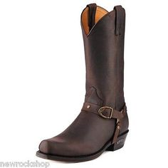 Sendra 3091 Man Cowboy Boots Brown Chocolate Leather Western Biker Handmade    Boots   Men s Shoes c95955a3fc0e