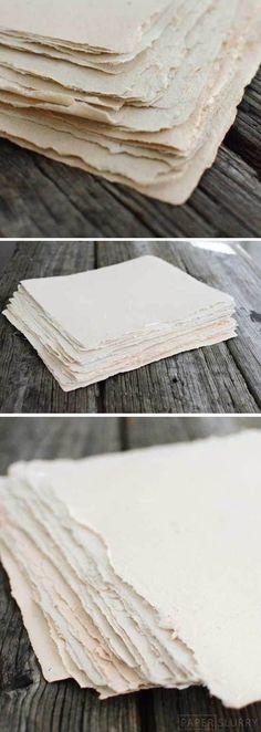 Diy Crafts Ideas : how to make handmade paper