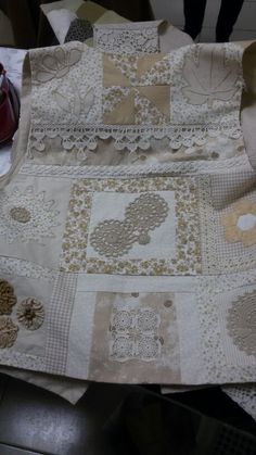 Sewing Art, Sewing Crafts, Altering Clothes, Linens And Lace, Heirloom Sewing, Patchwork Dress, Fabric Manipulation, Learn To Sew, Sewing Clothes