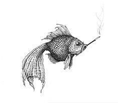 Smokey Fish Intricate Ink Original