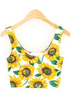 Summer Sunflower Cropped Top