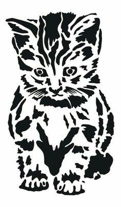 Textile / Wall Stencil Template ca. Animal Stencil, Stencil Art, Stencil Printing, Stenciling, Wood Burning Patterns, Wood Burning Stencils, Stencil Patterns, Stencil Templates, Scroll Saw Patterns