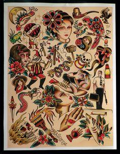 Logan Morrisson Tattoo Flash | KYSA #ink #design #tattoo