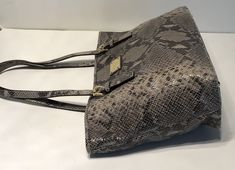 8a2d68192bf7 MICHAEL Michael Kors Jet Set Open Travel Tote Dark Sand Python Embossed *  Read more at