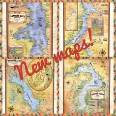 New custom maps of  Flathead Lake, MT Whitefish Lake, MT Lake Pend Oreille, ID Lake Coeur D'Alene, ID www.greatriverarts.com Flathead Lake, Whitefish, Coeur D'alene, Custom Map, Vintage World Maps, Diy Crafts, River, Rivers, Diy Home Crafts