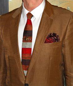 Hugo Boss linen and cupro suit, Ben Sherman shirt, Jack Henry tie…