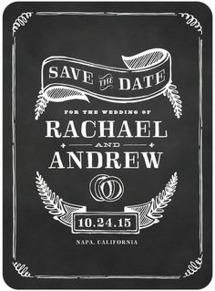 Chalkboard save the date - like a coaster maybe!
