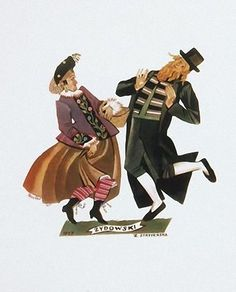 """Zofia Stryjeńska (Polish, Tanie zydowski z teki """"Tańce polskie"""". 1927 г. Dance Art, Folk, Character Design, Movie Posters, Painting, Fictional Characters, Polish, People, Inspiration"""