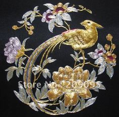 Gold Thread Embroidery | Chinese gold thread embroidery.