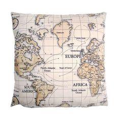 Maps Cushion Cover