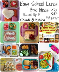 Happy-Go-Lucky: Create and Share - Easy School Lunch Ideas