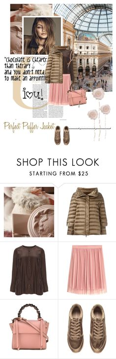 """Perfect Puffer Jackets"" by lacas ❤ liked on Polyvore featuring Hetregó, Zizzi, Elena Ghisellini, H&M, Mariah Carey, Alexis Mabille and puffers"