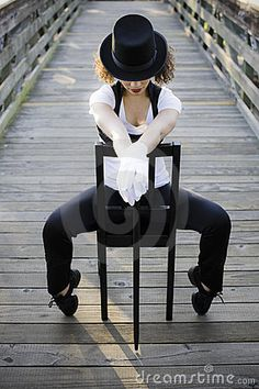 Jazz Dancer Sitting On Chair