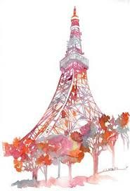 Image result for france eiffel tower and the tokyo tower