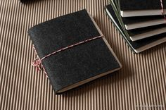 Recycled Felt Note Books With Upcycled Paper From Waste