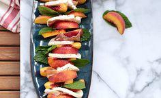 Click here to view the  Peach, Mozzarella and Prosciutto Salad with Mint recipe.