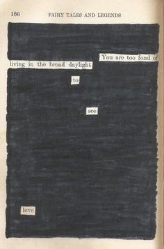 To See Love | Blackout Poetry