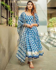 Indian Bollywood Designer Handblock Indigo Kurta Pant With | Etsy
