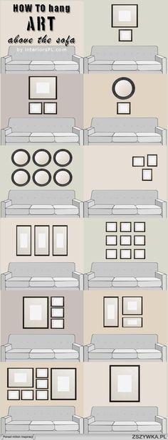 jak zagospodarować ścianę nad kanapą