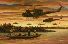 """The UH-1 Huey (nickname derived from the military """"Helicopter Utility"""") was the work horse of the Viet Nam war."""