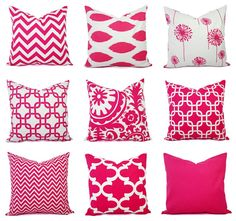Hey, I found this really awesome Etsy listing at https://www.etsy.com/listing/125469028/one-decorative-pillow-cover-bright-pink