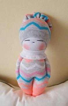 Sokken Doll making kit: Girl in purple, girl in blue Socks Doll makin . Diy Sock Toys, Sock Crafts, Fabric Crafts, Sock Dolls, Baby Dolls, Sock Bunny, Sock Animals, Baby Animals, Sewing Toys