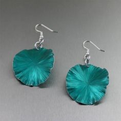 Superb Teal Anodized Aluminum Lily Pad Earrings Offered by #Wanelo #AluminumJewelry #10thAnniversary http://wanelo.com/p/11653251/teal-anodized-aluminum-lily-pad-earrings-medium