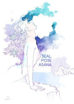 Foca (Seal Pose): La Postura de la Foca o Seal Pose está especialmente indicada para trabajar estiramiento en abdomen y cara interna de los brazos... Leer más: http://indomityoga.com/coleccion-happy-hippie-yoga/foca-seal-pose/